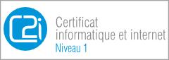 Logo de la Certification Informatique et Internet niveau 1 (C2i)