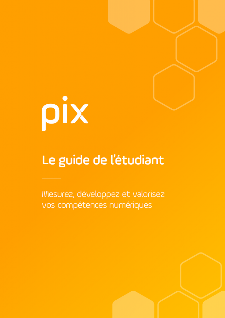 Couverture du guide de l'étudiant pour la certification PIX.