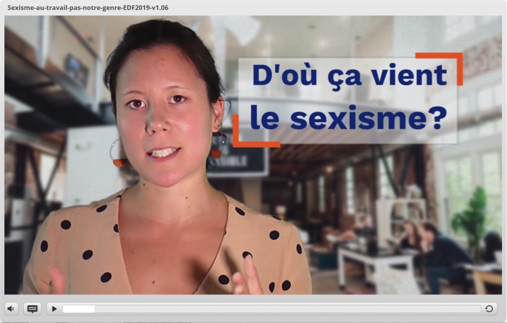 Capture d'écran du module elearning : sexisme au travail, c'est pas notre genre.